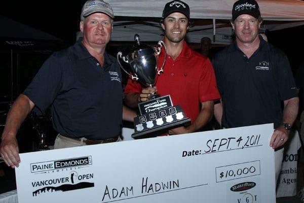 Adam Hadwin Winner | 2011 Vancouver Open