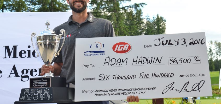 Adam Hadwin Wins His 3rd Vancouver Open Title